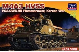 Model Kit tank 7524 - M4A3 HVSS POA-CWS-H5 Flamethrower, Korean War (70th Anniversary) (1:72)