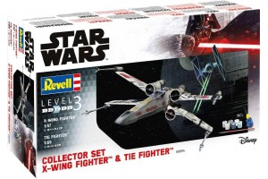 Gift-Set SW 06054 - X-Wing Fighter (1:57) + TIE Fighter (1:65)
