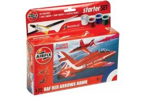 Starter Set letadlo A55002 - Red Arrows Hawk (1:72)