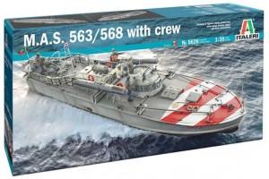 Model Kit loď 5626 - M.A.S. 563/568 with crew (1:35)