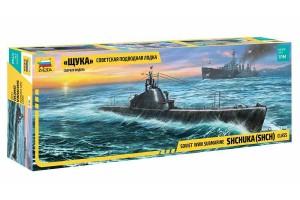 "Model Kit ponorka 9041 - ""Shchuka"" Class Russian Submarine WWII (1:144)"