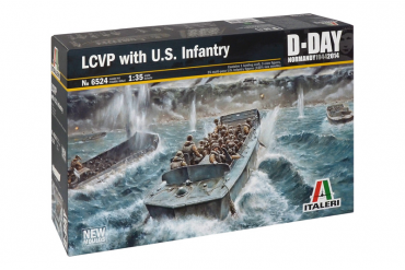 LCVP with US INFANTRY (1:35) - 6524