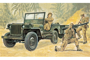Willys MB Jeep with Trailer (1:35) - 0314