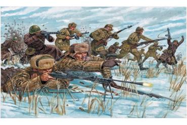 WWII -RUSSIAN INFANTRY (WINTER UNIF) (1:72) - 6069