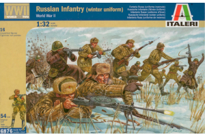 WWII RUSSIAN INFANTRY (WINTER UNIFORMS) (1:32) - 6876