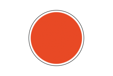 4302AP - Flat Orange 20ml - akryl
