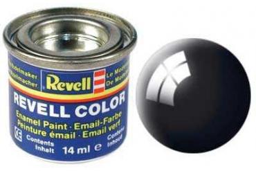 Barva Revell emailová - 32107: leská černá (black gloss)