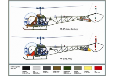 Model Kit vrtulník 0095 - AH-1/AB-47 (1:72)