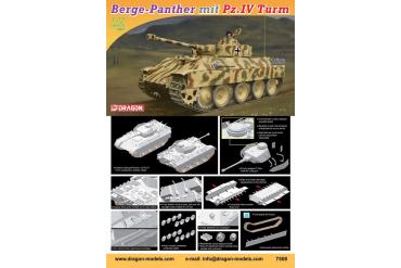 Berge-Panther mit aufgesetztem Pz.Kpfw.IV Turm als Befehlspanzer (1:72) - 7508