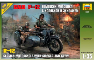 German WWII Sidecar R12 with crew (1:35) - 3607
