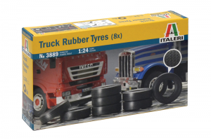 TRUCK RUBBER TYRES (8x) (1:24) - 3889