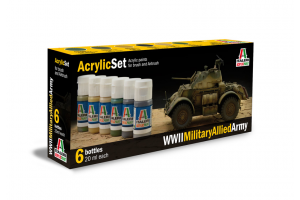 Sada 440AP: WWII MILITARY ALLIED ARMY 6 ks