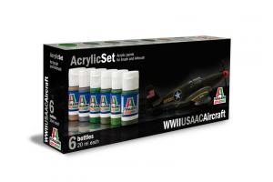 Sada 438AP: WWII USAAC AIRCRAFT 6 ks - akryl