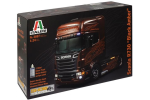 Model Kit truck 3897 - SCANIA R BLACK AMBER (1:24)
