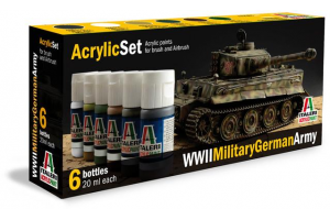 Sada 433AP: WWII Military German Army 6 ks - akryl