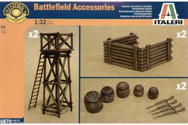 ARTILLERY POSITION ACCESSORIES (1:32) - 6870