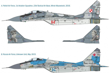 "Model Kit letadlo 1377 - MIG29 ""FULCRUM"" (1:72)"