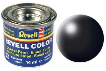 Barva Revell emailová - 32302: hedvábná černá (black silk)