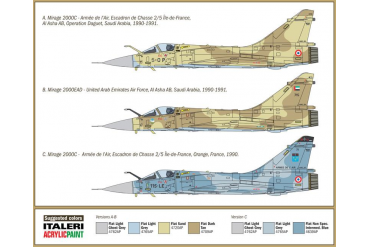 Model Kit letadlo 1381 - MIRAGE 2000 (1:72)