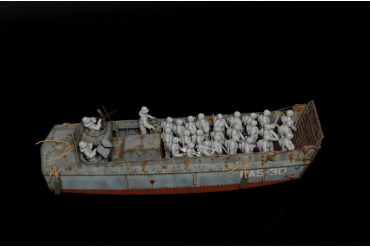 Model Kit loď 6524 - LCVP with US INFANTRY (1:35)