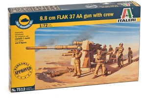 Fast Assembly military 7512 - 8.8 CM FLAK 37 AA GUN with crew (1:72)
