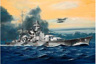 Plastic ModelKit loď 05136 - Battleship Scharnhorst (1:1200)