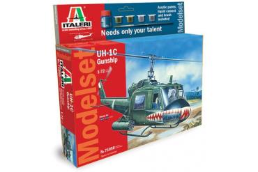 Model Set vrtulník 71050 - 1:72 UH-1C GUNSHIP (1:72)