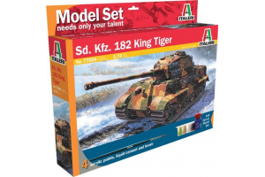 Model Set tank 77004 - 1:72 Sd.Kfz. 182 King Tiger (WWII) (1:72)