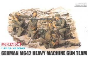 Model Kit figurky 6064 - GERMAN MG42 HEAVY MACHINE GUN TEAM (1:35)