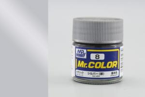 Mr. Color - C008: Stříbrná metalická