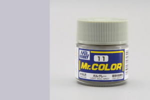 Mr. Color - C011: Racčí šedá pololesklá (Light Gull Gray Semigloss)