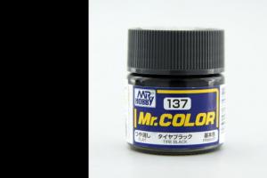 Mr. Color - C137: Černé pneumatiky matná