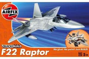 Quick Build letadlo J6005 - Lockheed Martin Raptor