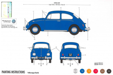 Starter Set auto A55207 - VW Beetle (1:32)