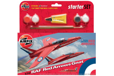 Starter Set letadlo A55105 - Red Arrows Gnat (1:72)