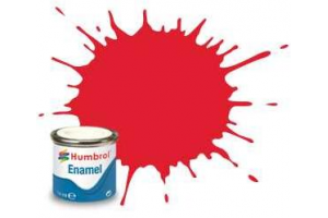 Humbrol barva email AA0206 - No 19 Bright Red - Gloss - 14ml