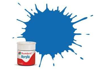 Humbrol barva akryl AB0052 - No 52 Baltic Blue - Metallic - 12ml