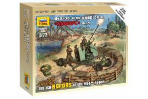 Wargames (WWII) figurky 6170 - British Bofors 40mm Mk-2 AA-Gun (1:72)