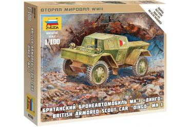 Wargames (WWII) military 6229 - British Armored Car Dingo (1:100)