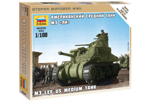 Wargames (WWII) tank 6264 - M-3 Lee US medium tank (1:100)