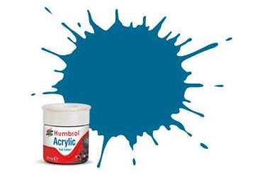 Humbrol barva akryl železniční AB2404 - No RC404 Garter Blue - Matt - 14ml