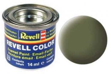 Barva Revell emailová - 32168: matná tmavě zelená (dark green mat RAF)