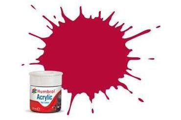 Humbrol barva akryl železniční AB2423 - No RC423 Carmine - Matt - 14ml