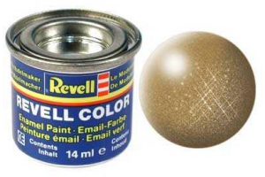 Barva Revell emailová - 32192: metalická mosazná (brass metallic)