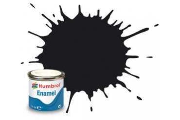 Humbrol barva email AA6392 - No 201 Black - Metallic - 14ml