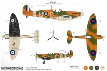 Starter Set letadlo A55100 - Supermarine Spitfire MK1a (1:72)
