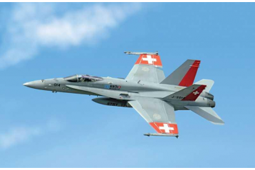 Model Kit letadlo 1385 – F/A 18 SWISS AIR FORCE (1:72)